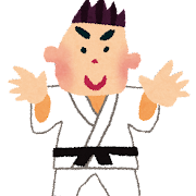 オリンピックのイラスト「柔道」