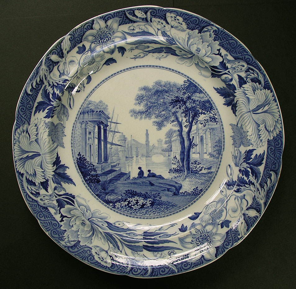 This plate is an ex&le the traditional Wedgwood tableware. A beautiful Staffordshire blue and white design on an English pearlware large dinner plate with ... & Wedgwood Blue Claude | British China tableware