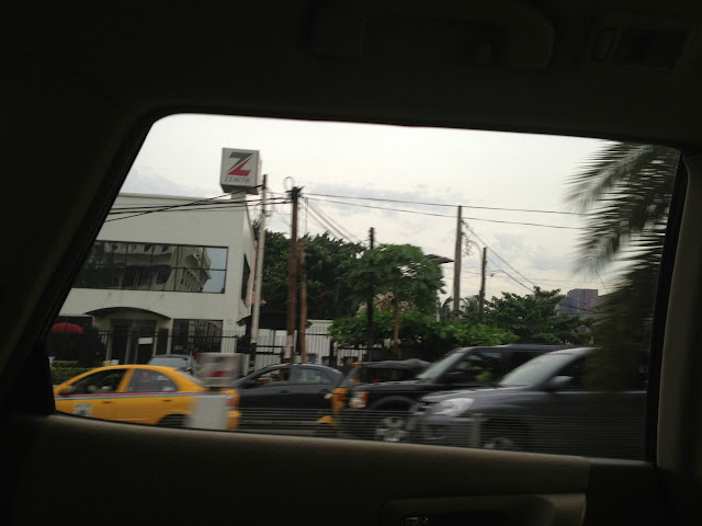Lagos Traffic view from inside the SUV