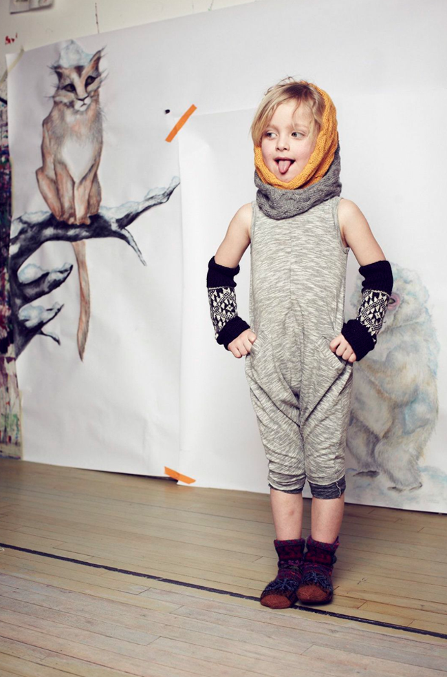 Kids knit accessories by Cabbages and Kings AW14 - fair trade
