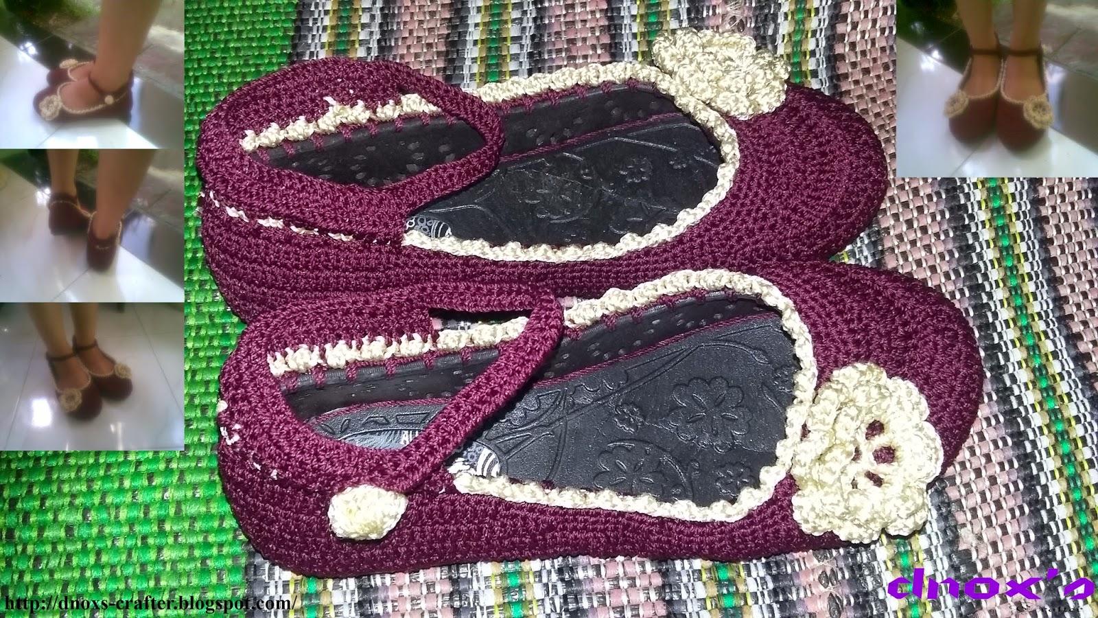 Sepatu rajut karet coklat 2