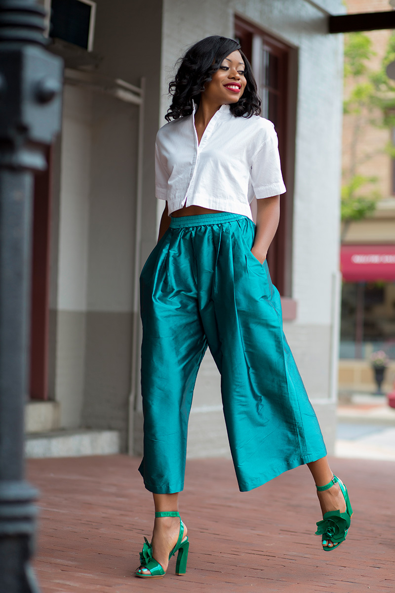 Tome nyc Cropped Taffeta Wide-Leg Pants, crop top, delpozo