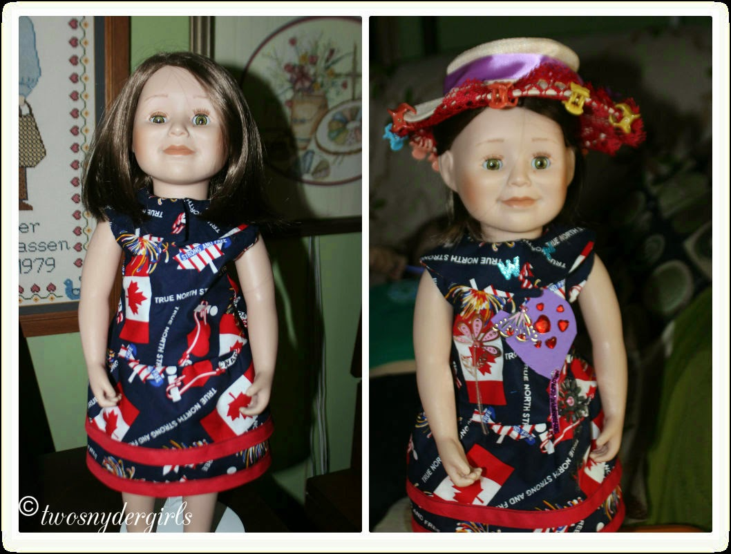 Maplelea her Canada Day Dress