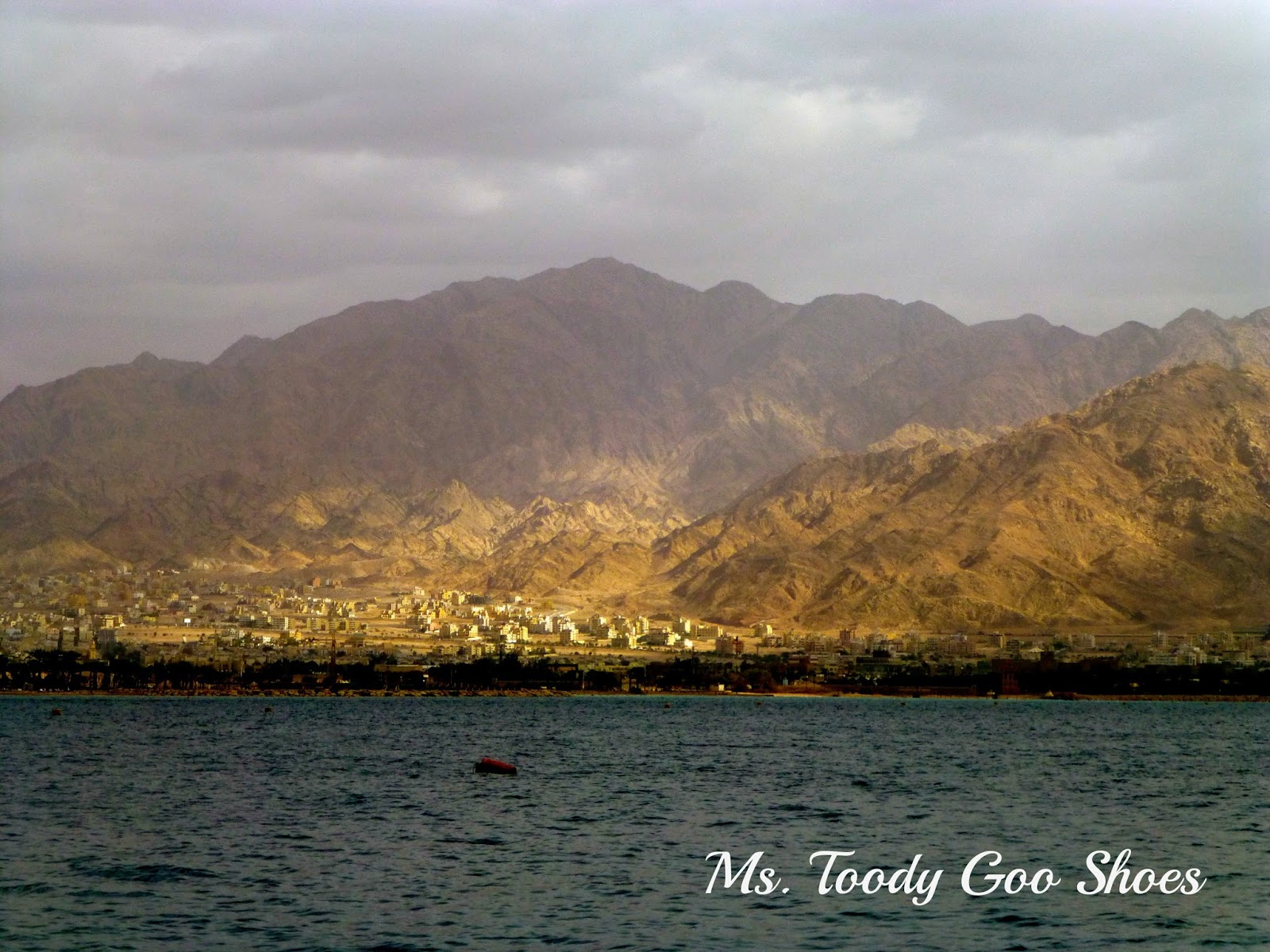 View of Jordan from Eilat, Israel --- Ms. Toody Goo Shoes