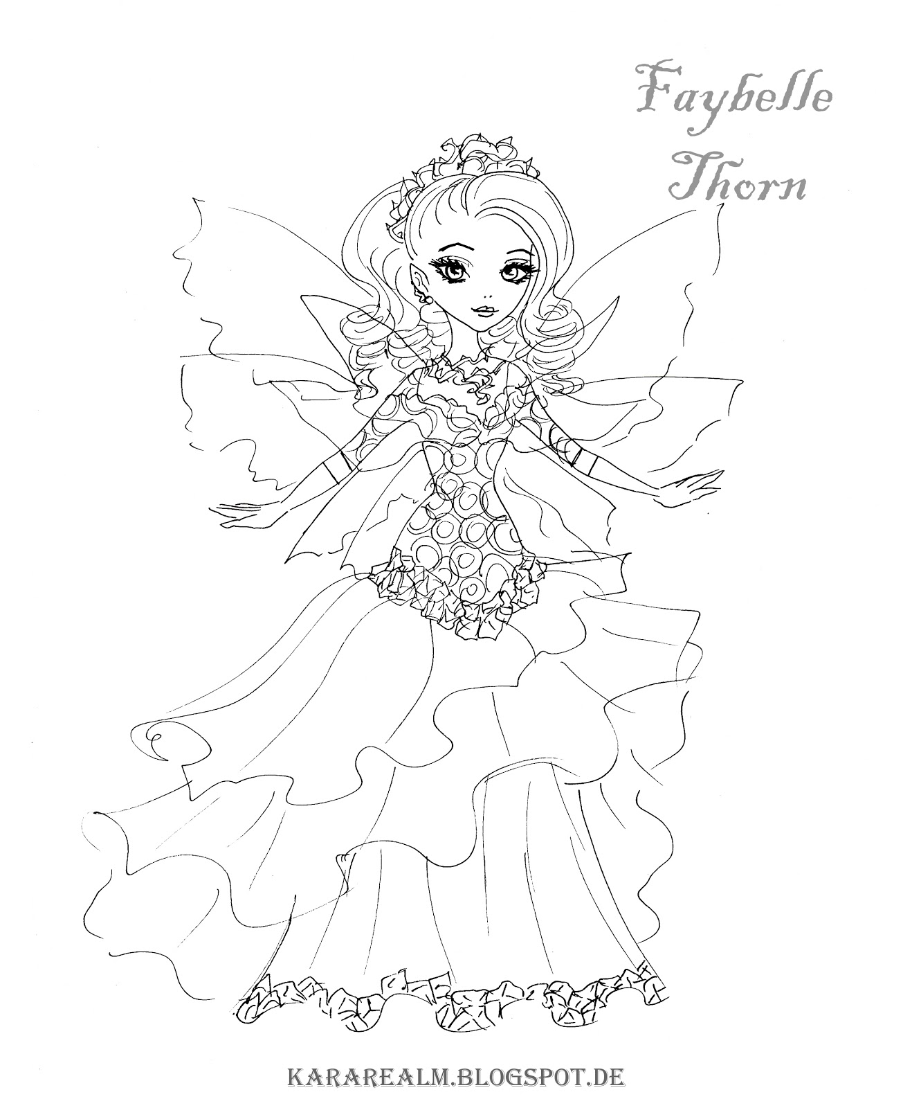 Free Coloring Pages Of Kitty Ever After High