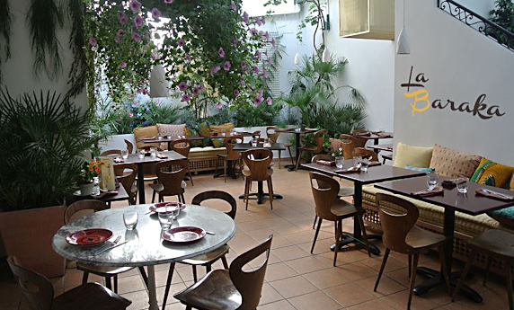 My world is full of la baraka un magnifique for Restaurant avec jardin terrasse paris