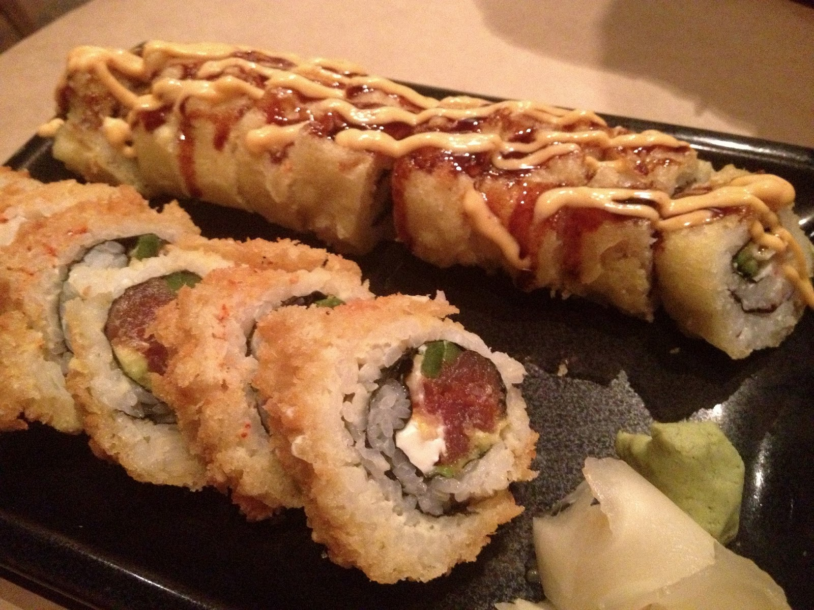 food blog, utah food blog, food blogger, happy sumo, sushi, sushi places in utah, panko popper roll, vegas roll, tuna, ahi seared tuna