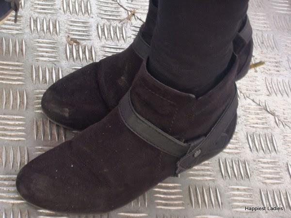 Womens black boots velvet