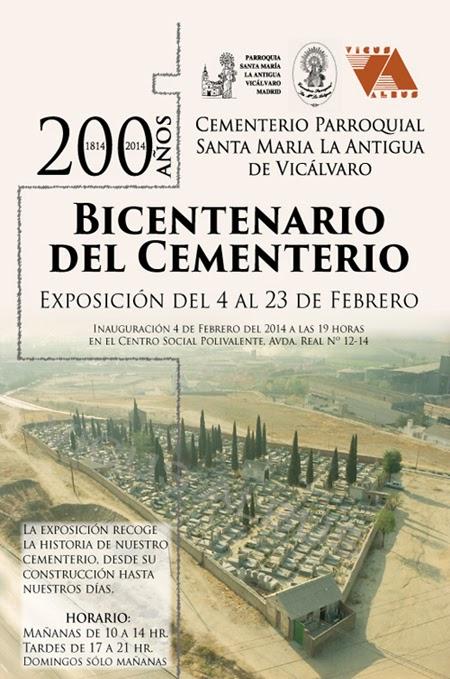 Bicentenario del cementerio, exposición en CS Polivalente. 4 a 23 febrero 2014