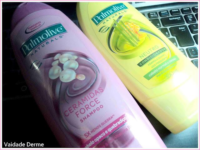 Shampoo Palmolive Naturals Ceramidas Force e Condicionador Palmolive Naturals Neutro