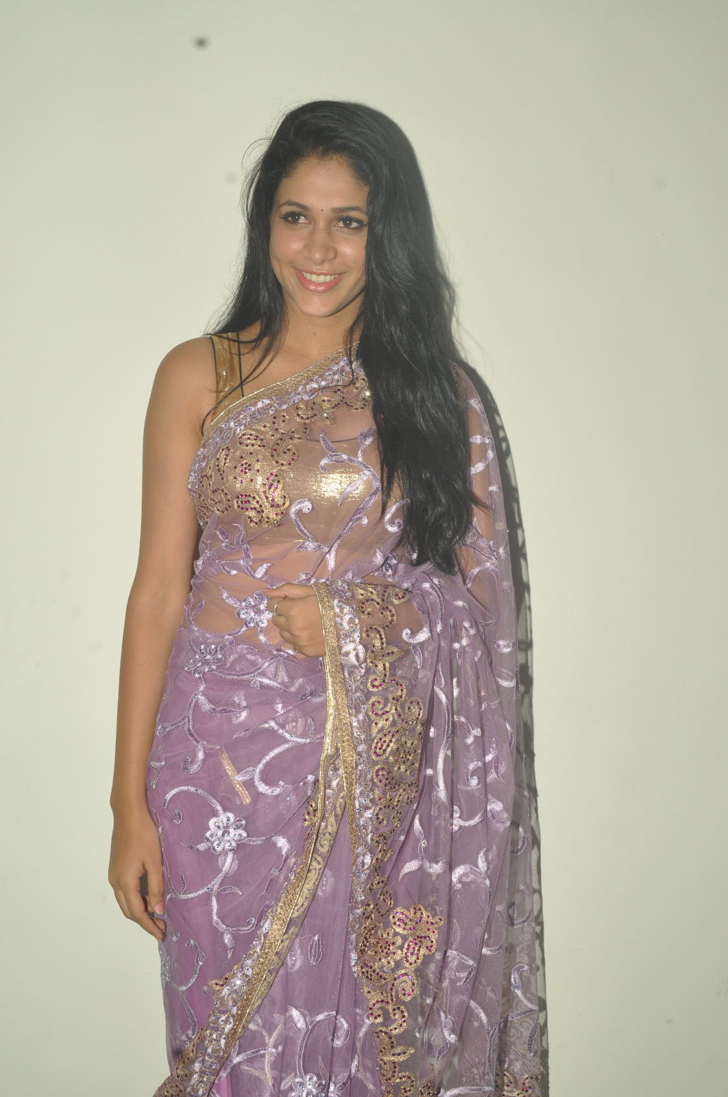 Gorgeous Beautiful Lavanya in designer saree at cinemaa mahila awards