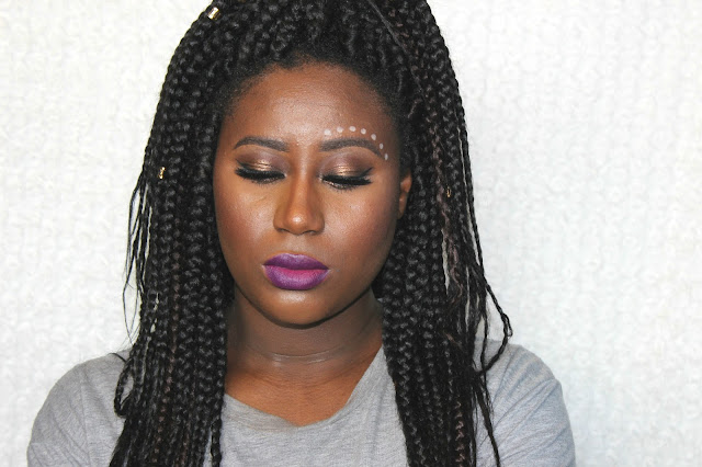 festival makeup, charlotte tilbury dolce vita, mac prolongwear foundation, colourpop cosmetics leather lippie stix, braids