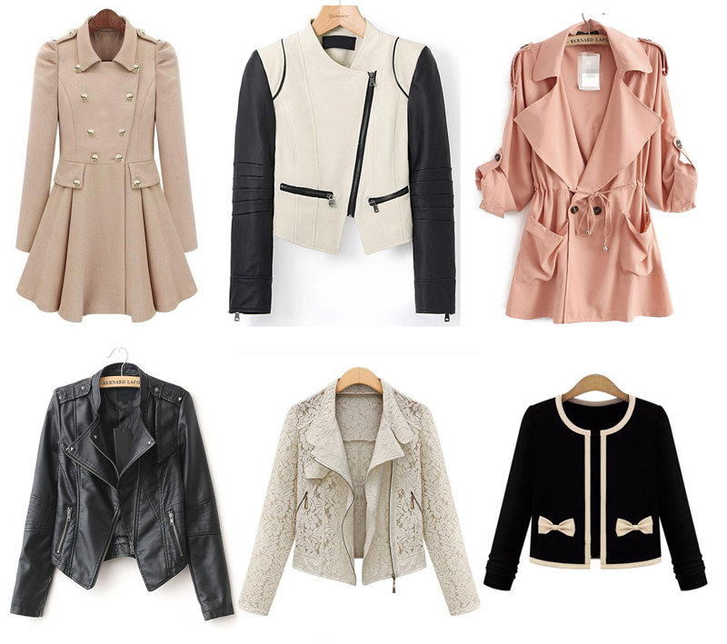 Lace jackets, pastel trench coats, and cropped leather jackets as part of my SheInside spring fashion wishlist.