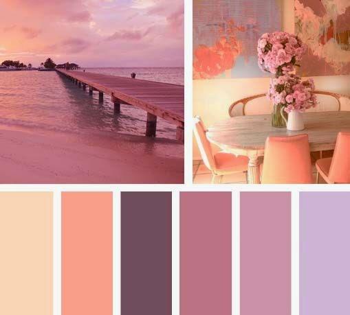 Paleta de colores malvas