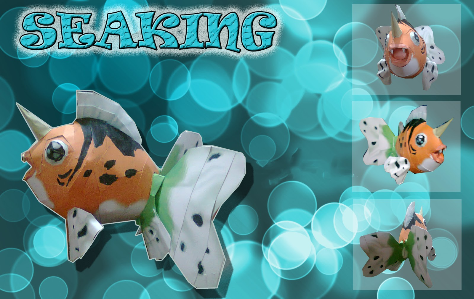 Pokemon Seaking Papercraft