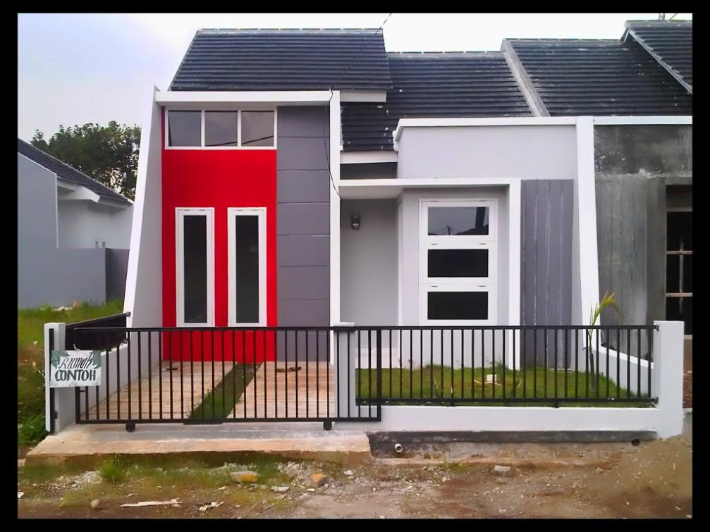 contoh cat rumah tampak depan kumpulan foto rumah