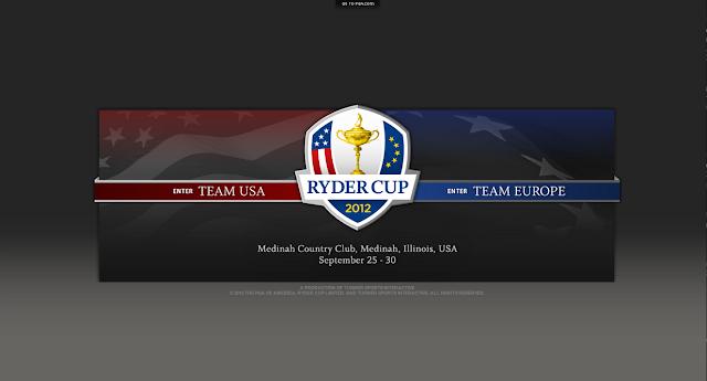 Page d'accueil du site de la Ryder Cup 2012