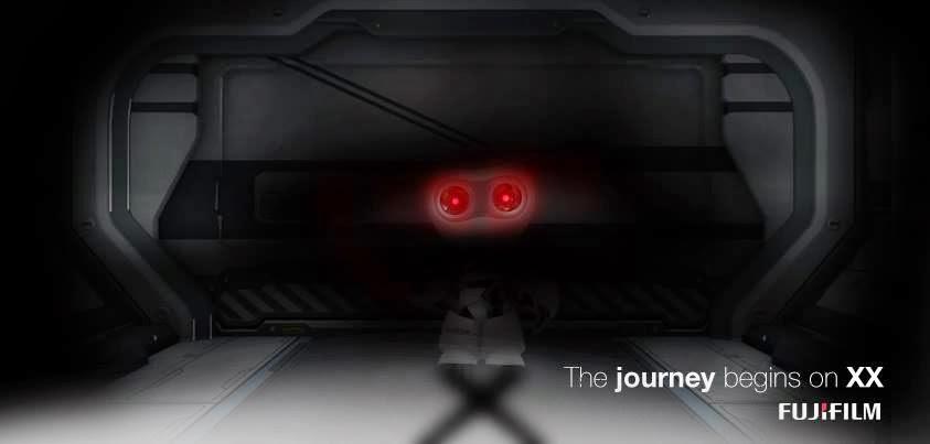 Immagine della campagna pubblicitaria di lancio del X-Robot di Fuji