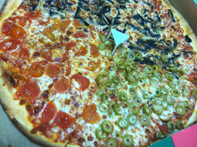 pizza with veggie toppings