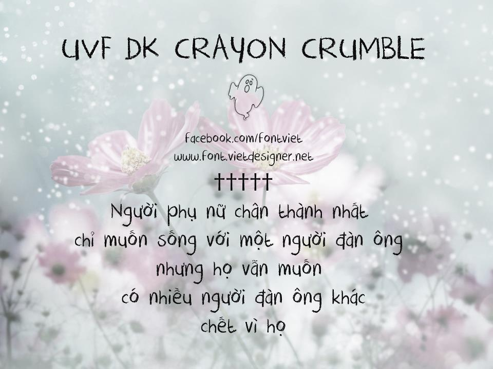 [Handwrite] UVF DK Crayon Crumble Việt hóa