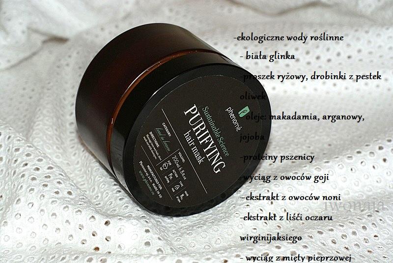 Oczyszczająca maska do włosów / Phenome.