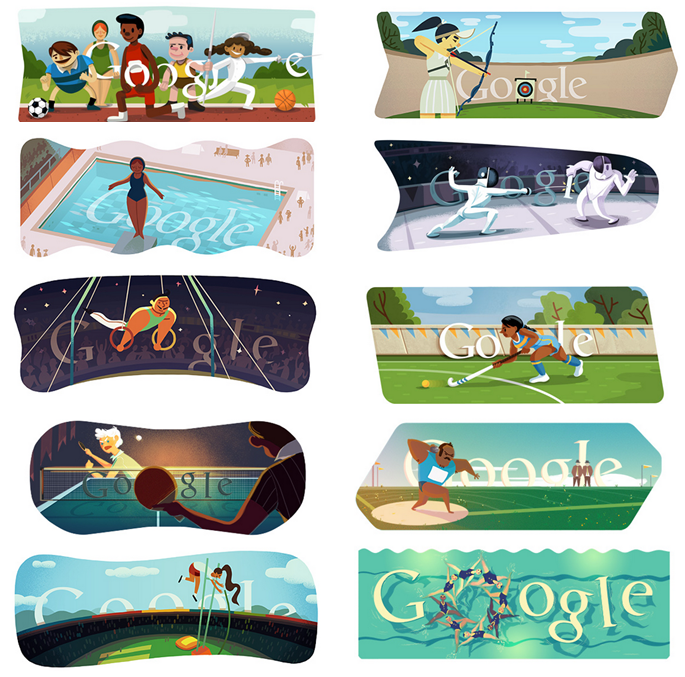 Doodle For Google: Just Kicking It: The Google Olympic Doodles