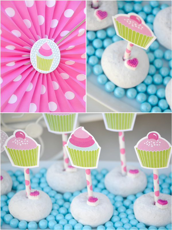 Cupcake Decorating Ideas For Birthday Party : A Very Sweet Pink Cupcake Baking Birthday Party Party ...