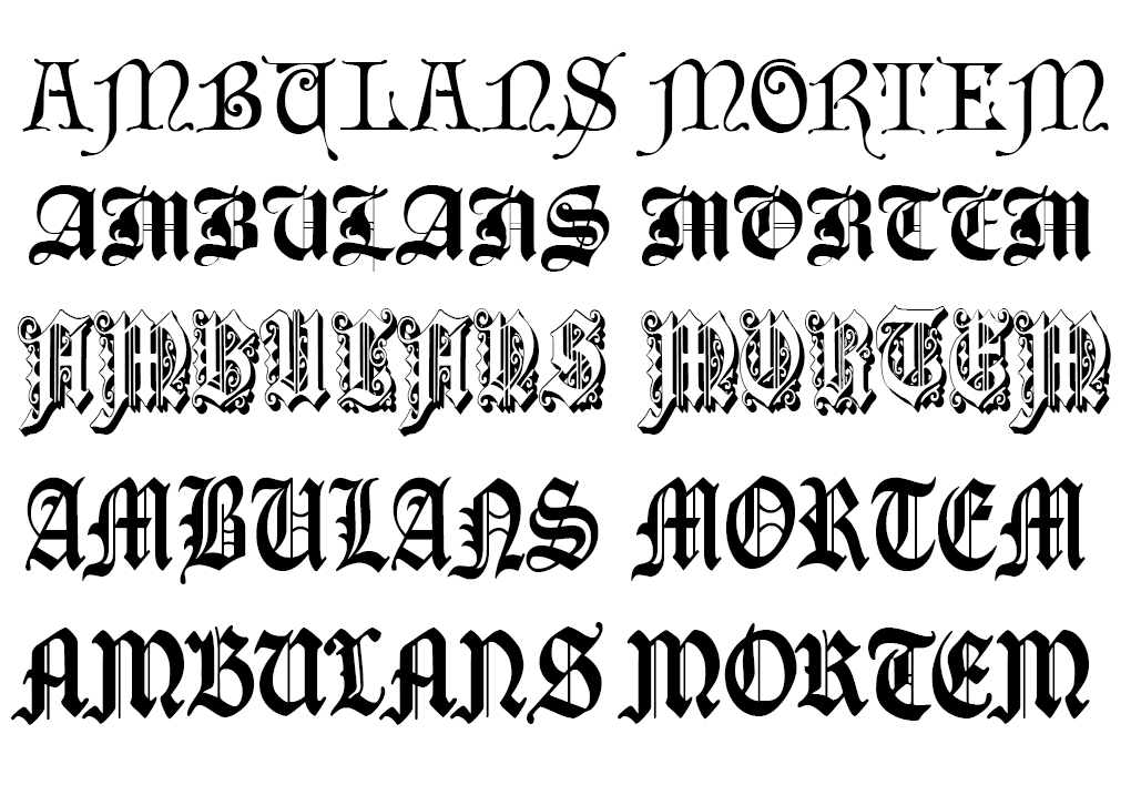Something Simple And Gothic That Fits With The Medieval Tone Of Scheme Ive Been Picking Fonts Based On