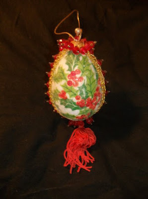 Styrofoam egg ornaments 1
