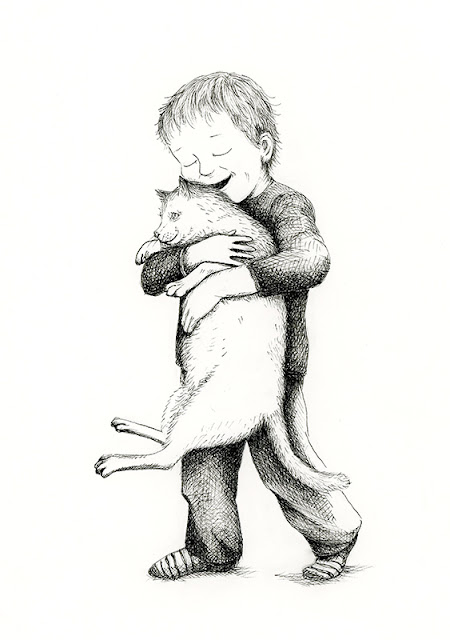 child with cat - yara dutra firmino