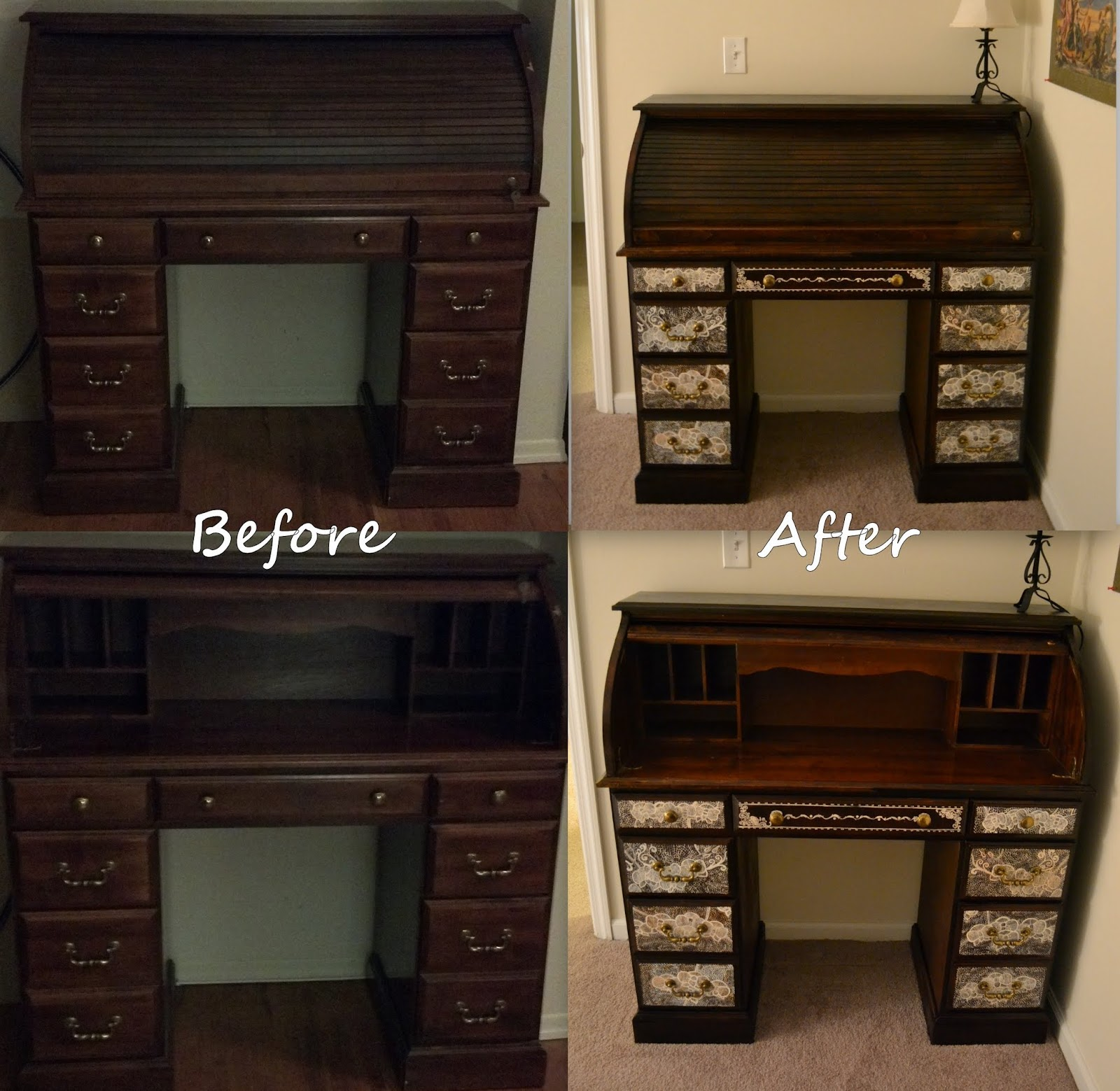 Finished One Of My Longest Projects Restoring Roll Top Desk . Full resolution‎  photograph, nominally Width 1600 Height 1559 pixels, photograph with #946737.