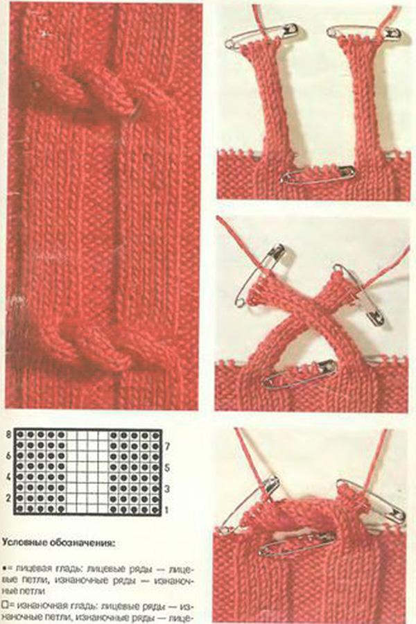 Вязание наклонные петли 1