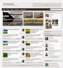 My Timeline Responsive Blogger Template Blogger Template Ads - Timeline blogger template