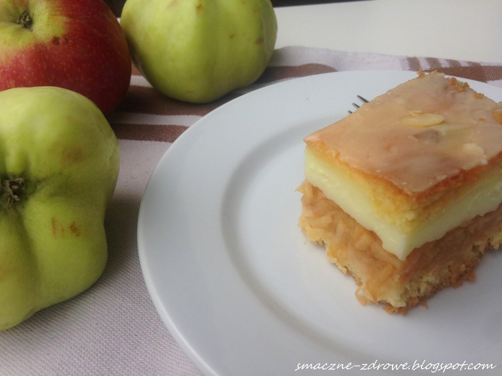 Ciasto Ucierane z Budyniem i Jabłkami Ciasto Ucierane z Jabłkami i