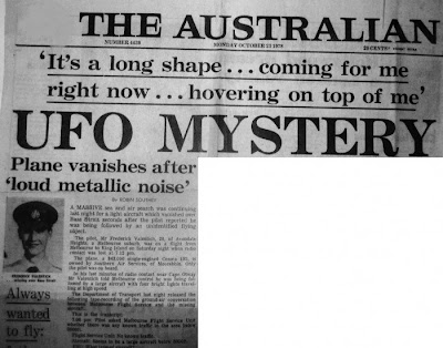 Frederick Valentich UFO Mystery newspaper article