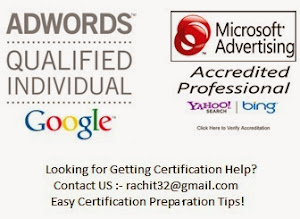 Google Adwords/Bing Certification Help