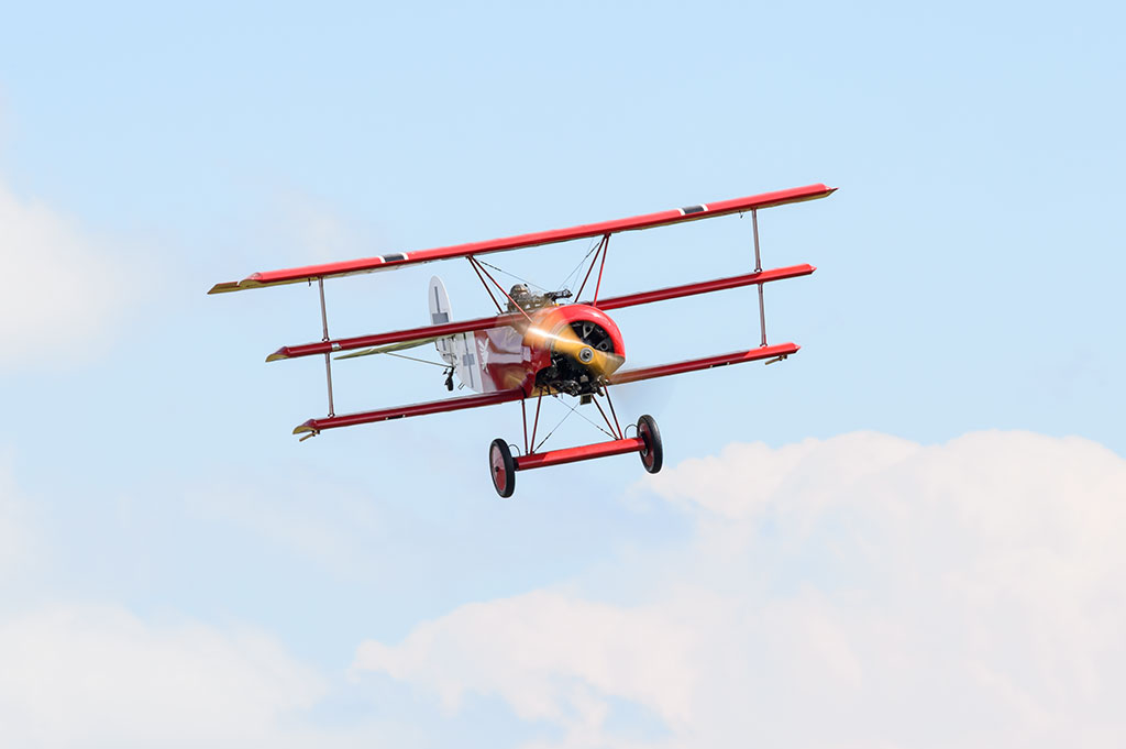 Triplane at the Military Aviation Museum