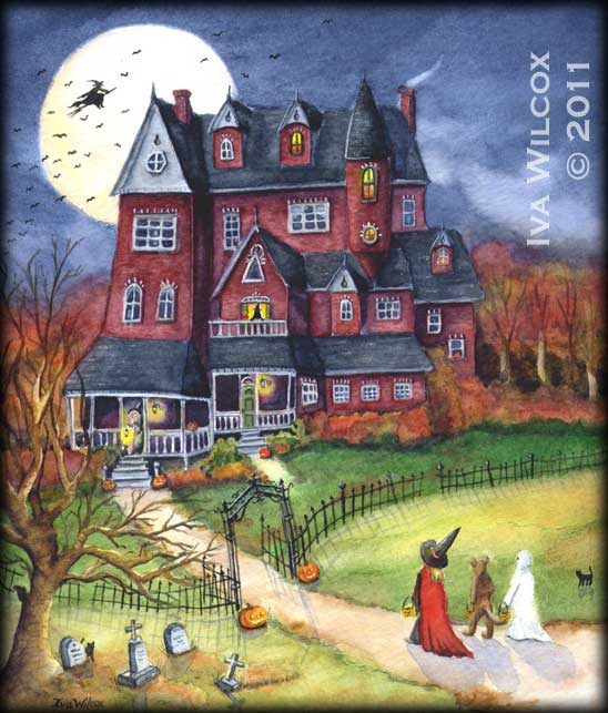Halloween Watercolor by Iva Wilcox