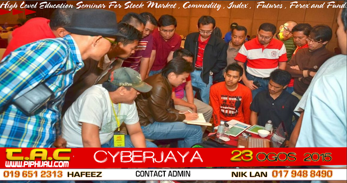 Seminar Forex TAC 23 Ogos 2015 - Ahad - Cyberjaya