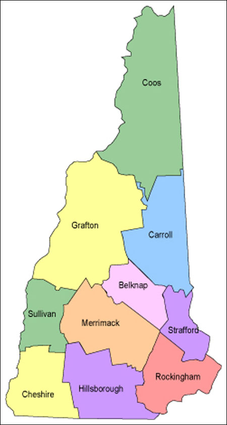 Online Maps New Hampshire County Map