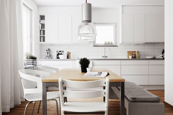 A de-cluttered monochrome Swedish home
