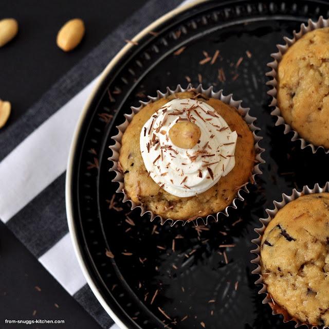 Erdnussbutter-Chocolate-Muffins