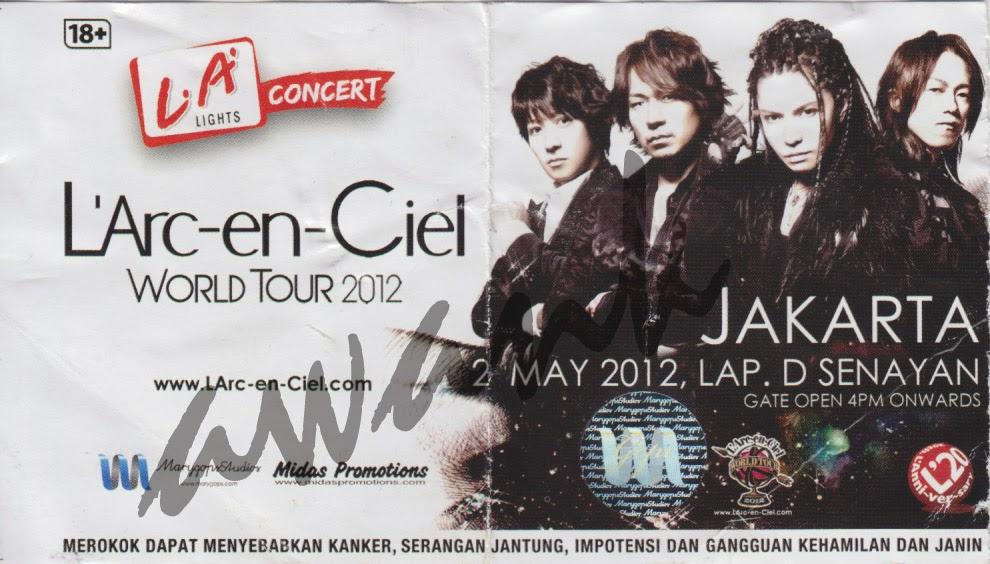 Konser L'Arc-en-Ciel Jakarta 2 Mei 2012