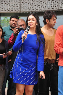 Actress Charmi Kaur Latest Pictures in Short Dress with R Rajkumar Movie Team at Yes Mart 0009
