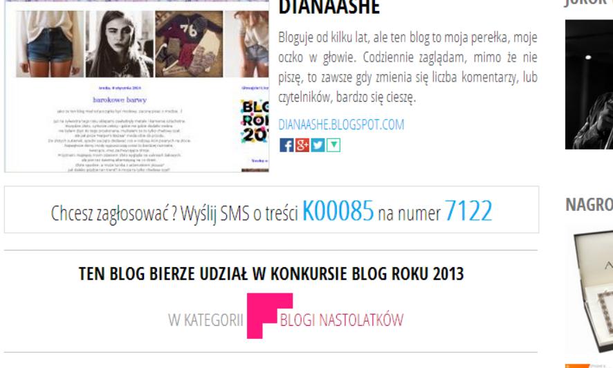 http://www.blogroku.pl/2013/kategorie/dianaashe,5wt,blog.html