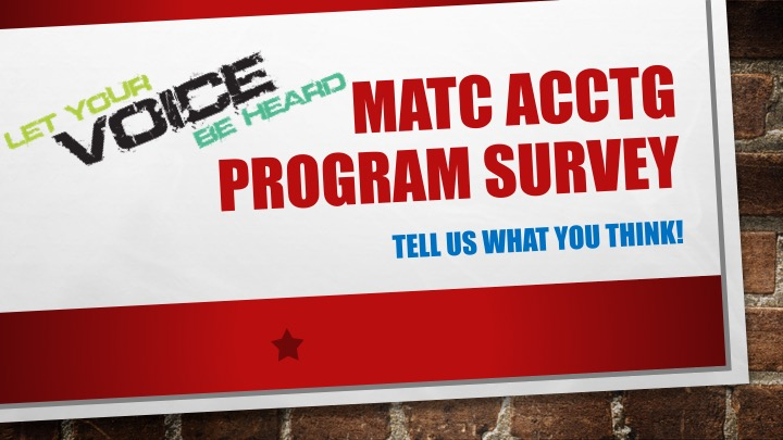 FILL OUT OUR SURVEY TODAY!