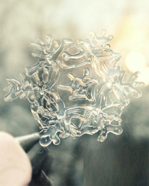 DIY, Copos de Nieve con Silicona