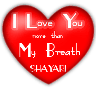 I Love You More Than My Breath Hindi Shayari