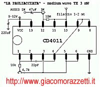 A Low Power Medium Wave AM Transmitter The Result Is Surprising CD4011 3mW Micro James Names La Pagliacciata Farce