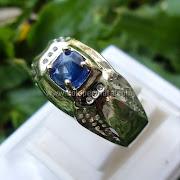 Cincin Batu Permata Blue Sapphire ceylon - SP 649